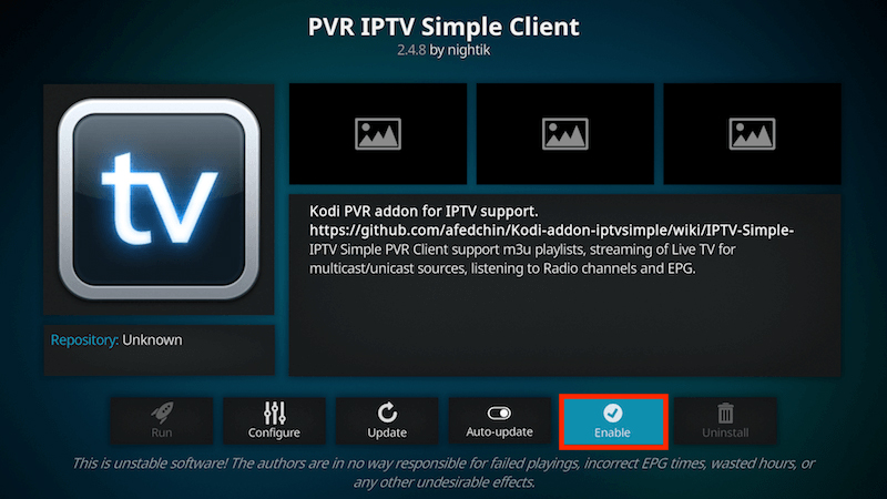 IPTV Simple Client - Installation
