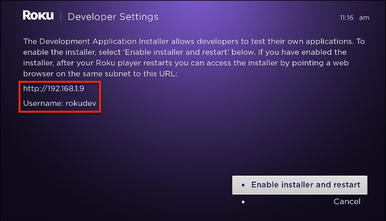How to sideload an app on Roku